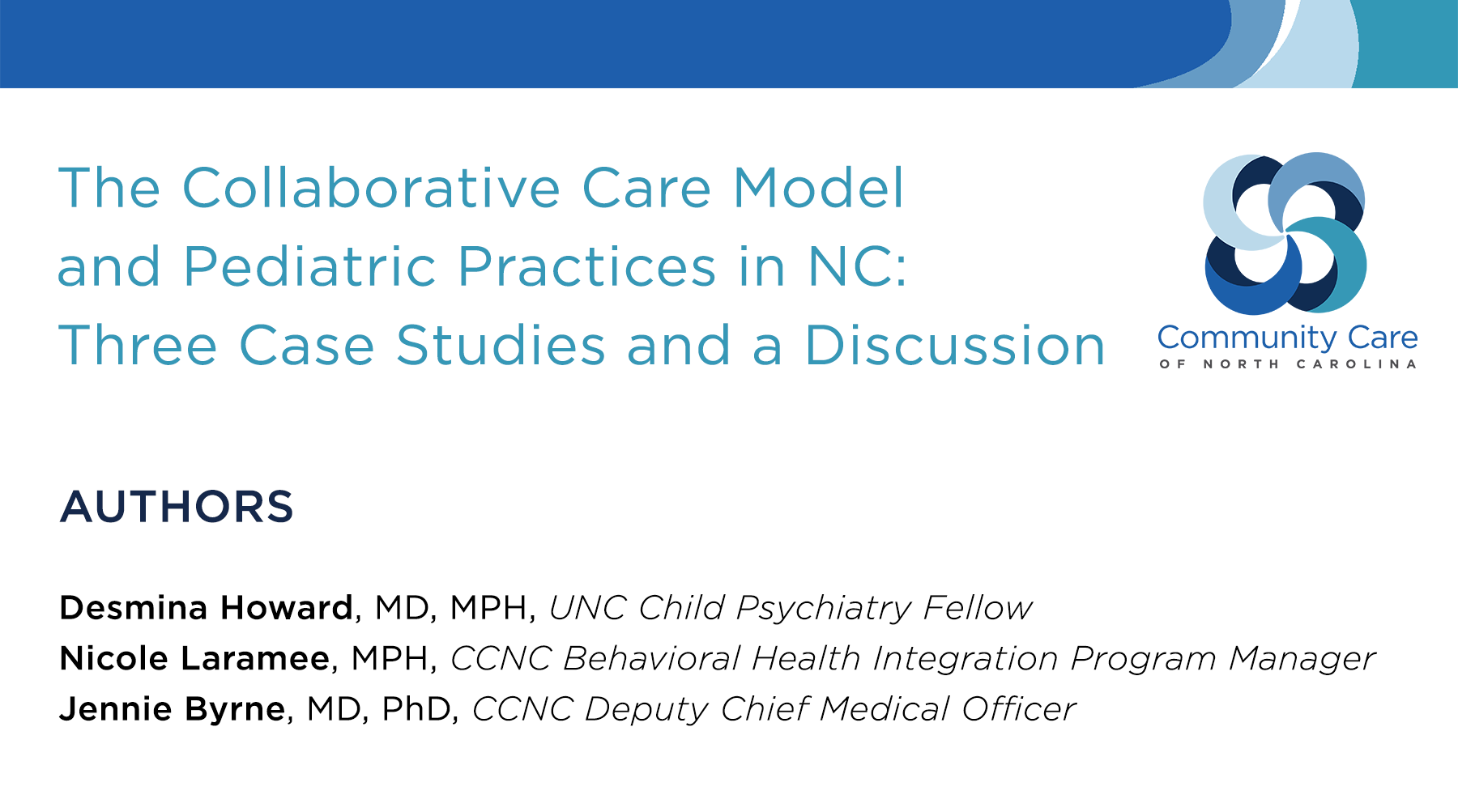 Case study: New model pairs up pediatricians and behavioral health specialty providers to improve patient care and practice revenue