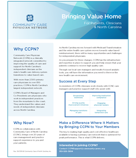 CCNC and Primary Care | Community Care of North Carolina