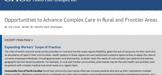 CCNC's model for community pharmacies featured in publication by Center for Health Care Strategies