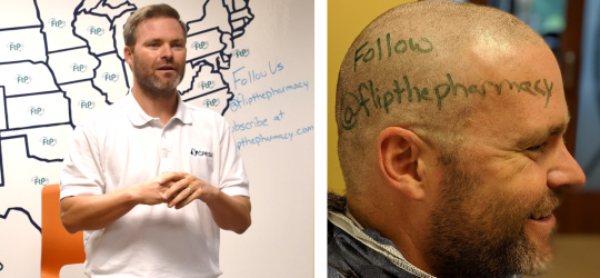 Trygstad shaves his head for Flip the Pharmacy